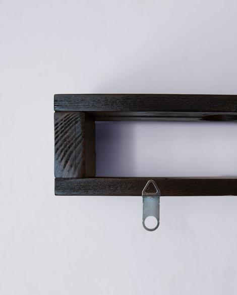 Colgador Wengué de Torno Upcycling hecho de materiales reciclados y con madera en marrón oscuro